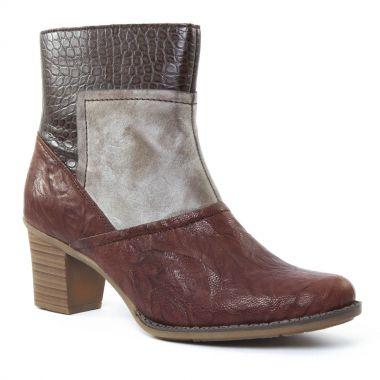 Bottines Et Boots Rieker z7673 Espresso, vue principale de la chaussure femme