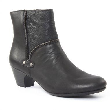 Bottines Et Boots Rieker 70564 Noir, vue principale de la chaussure femme