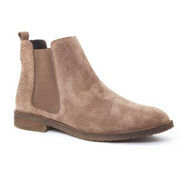 Bottines Et Boots Scarlatine 6605 Taupe, vue principale de la chaussure femme