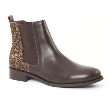 Bottines Et Boots Scarlatine 2662 Glitter marron, vue principale de la chaussure femme