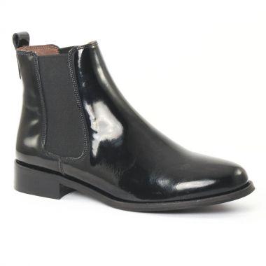 Bottines Et Boots Scarlatine 2662 vernis noir, vue principale de la chaussure femme