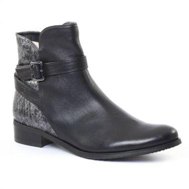 Bottines Et Boots Fugitive Rupert Noir gris, vue principale de la chaussure femme