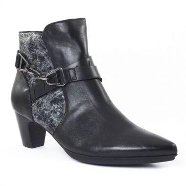 Bottines Et Boots Fugitive Flavin Noir Python noir, vue principale de la chaussure femme