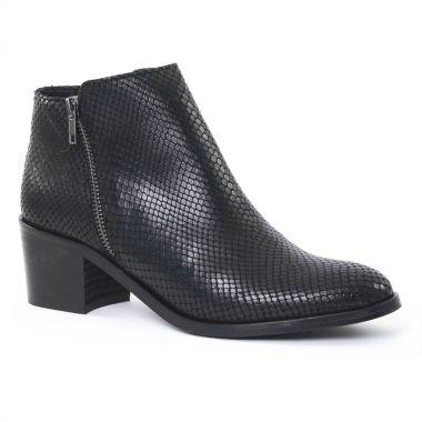 Bottines Et Boots Scarlatine 6543 Serpent noir, vue principale de la chaussure femme
