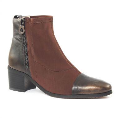 Bottines Et Boots Fugitive Lopus Bronze Marron, vue principale de la chaussure femme