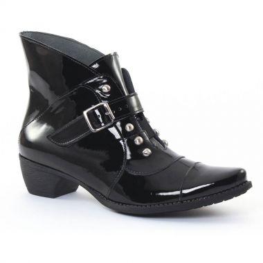 Bottines Et Boots Scarlatine 3099 Vernis noir, vue principale de la chaussure femme