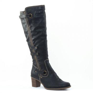 Bottes Rieker Z7672 Noir, vue principale de la chaussure femme