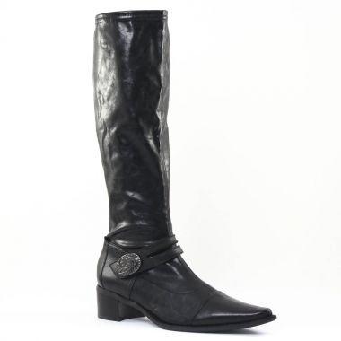 Bottes Fugitive Bosa Nappa Noir, vue principale de la chaussure femme