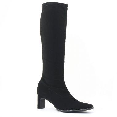 Bottes Fugitive Fanfan Nubuck Noir, vue principale de la chaussure femme