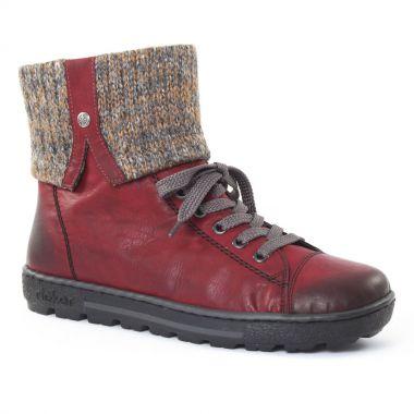 Bottines Et Boots Rieker z8753 Wine, vue principale de la chaussure femme