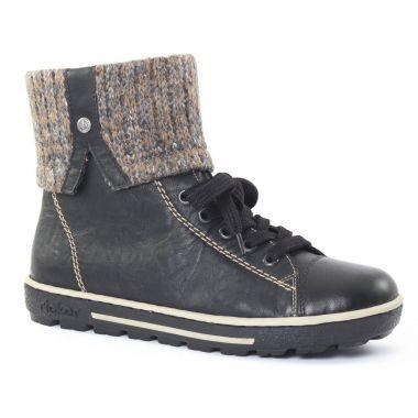 Bottines Et Boots Rieker z8753 Noir, vue principale de la chaussure femme