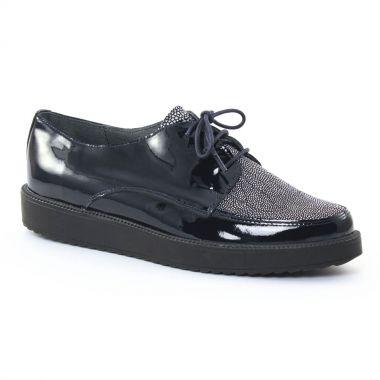 Chaussures À Lacets Scarlatine 7857 Noir marine, vue principale de la chaussure femme