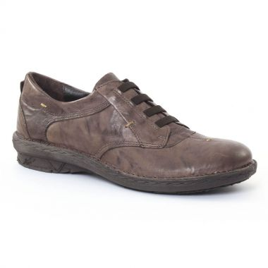 Chaussures À Lacets Khrio 1005 Gris, vue principale de la chaussure femme