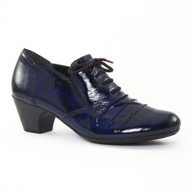 Chaussures À Lacets Rieker 50561 Blue, vue principale de la chaussure femme