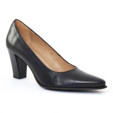 Escarpins Scarlatine Froufrou Noir, vue principale de la chaussure femme