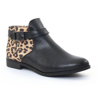 Bottines Et Boots Tamaris 25083 Black Leopard, vue principale de la chaussure femme