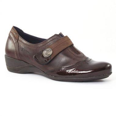 Mocassins Dorking 6497 Café Café, vue principale de la chaussure femme