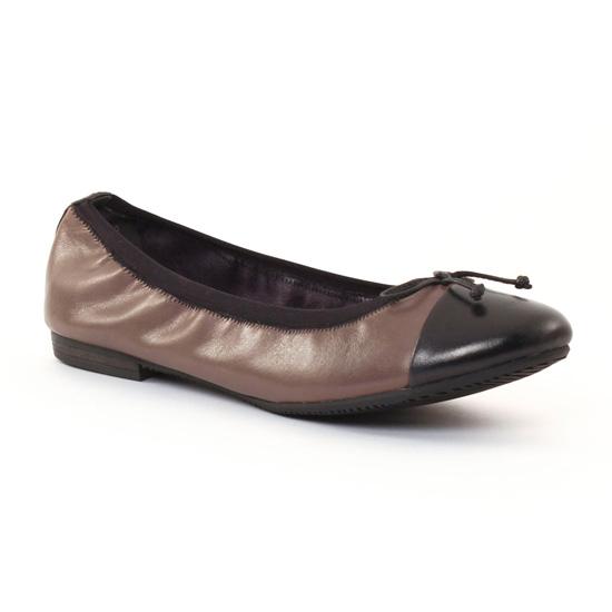 Ballerines Tamaris 22110 Taupe Black, vue principale de la chaussure femme