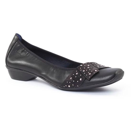 Ballerines Dorking 6556 Noir, vue principale de la chaussure femme