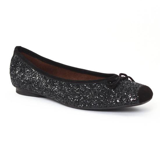 Ballerines Scarlatine 4224q Noir paillette, vue principale de la chaussure femme