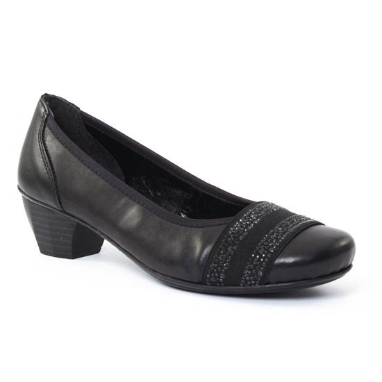 Ballerines Rieker 41772 Noir, vue principale de la chaussure femme