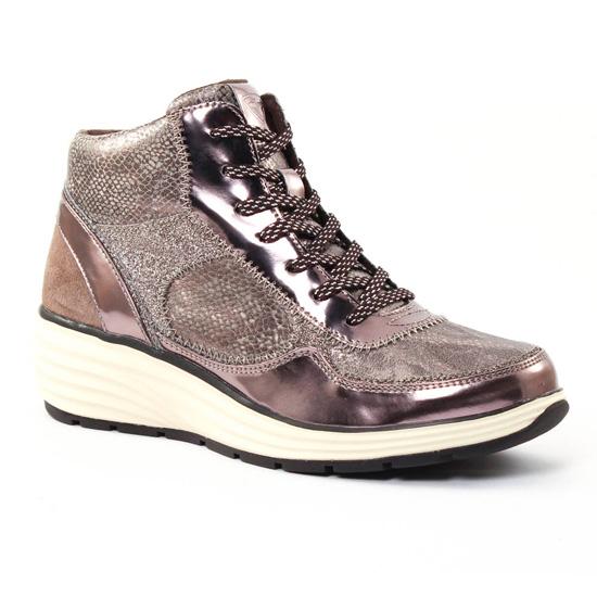 30a3d763bc8ddd Tennis Et Baskets Mode Tamaris 25826 Taupe, vue principale de la chaussure  femme