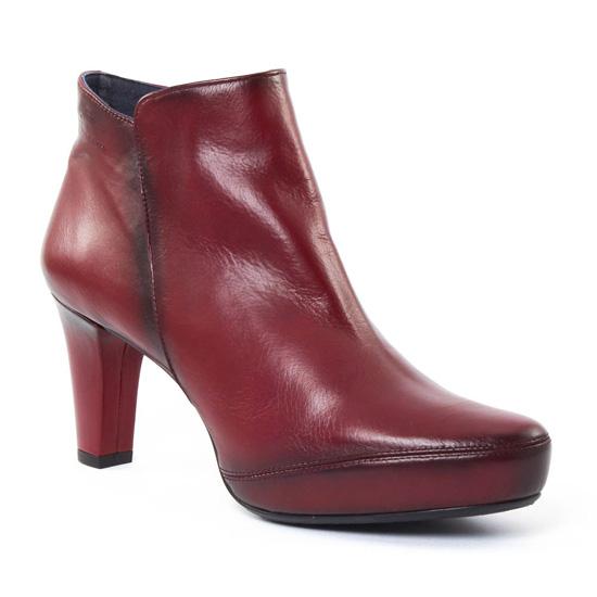 Bottines Et Boots Dorking 6413 Blesa Bordeaux, vue principale de la chaussure femme