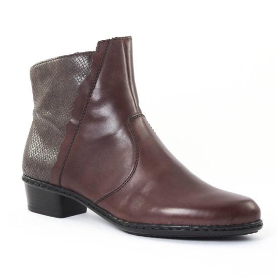 Bottines Et Boots Rieker Y0769 Graphite, vue principale de la chaussure  femme