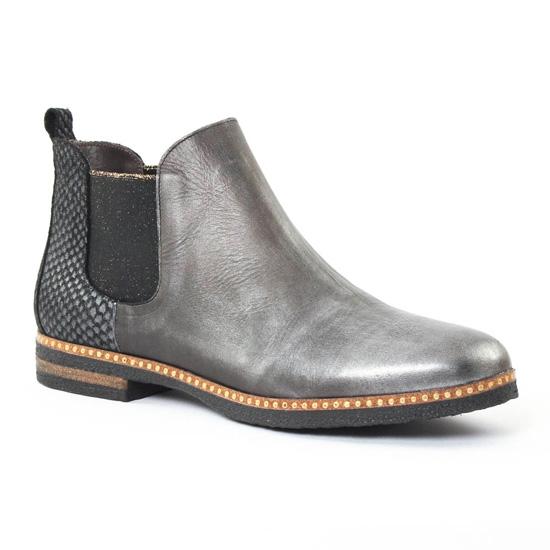 Bottines Et Boots Axell Rio Python Argent, vue principale de la chaussure femme