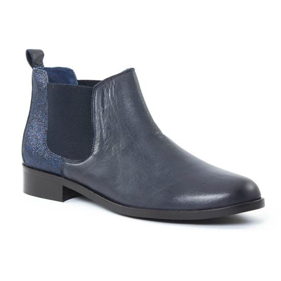 Bottines Et Boots Scarlatine 6444 Marine, vue principale de la chaussure femme