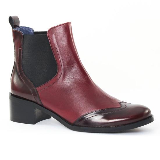 Bottines Et Boots Pintodiblu PintoDiBlu 78440 bordeaux, vue principale de la chaussure femme
