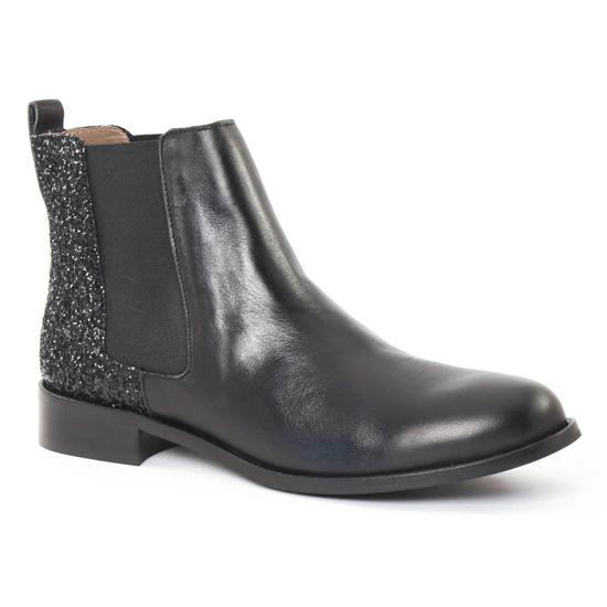 Bottines Et Boots Scarlatine 2662 Glitter Noir, vue principale de la chaussure femme