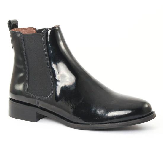Boots Chelsea vernies avec élastiques Noir rfjDeAO89A