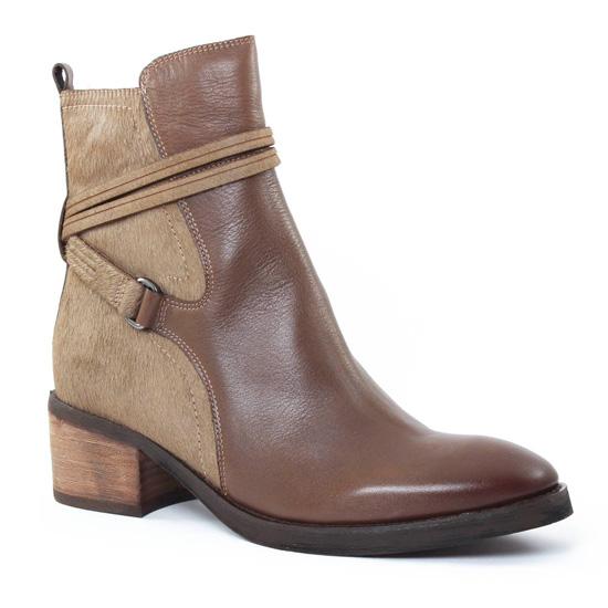 Bottines Et Boots Mamzelle Panter Taupe, vue principale de la chaussure femme