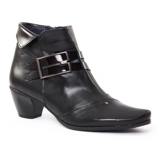 Bottines Et Boots Dorking 6506 Bambu Noir, vue principale de la chaussure femme