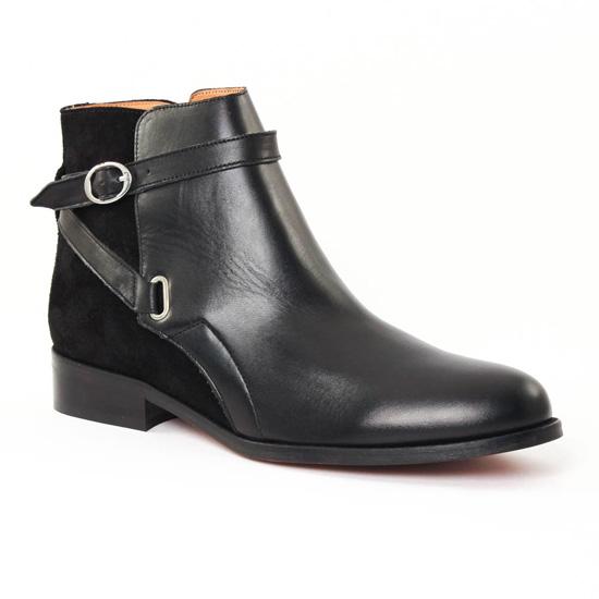 d6f170d5bc5c84 Bottines Et Boots Scarlatine 777521 Noir, vue principale de la chaussure  femme