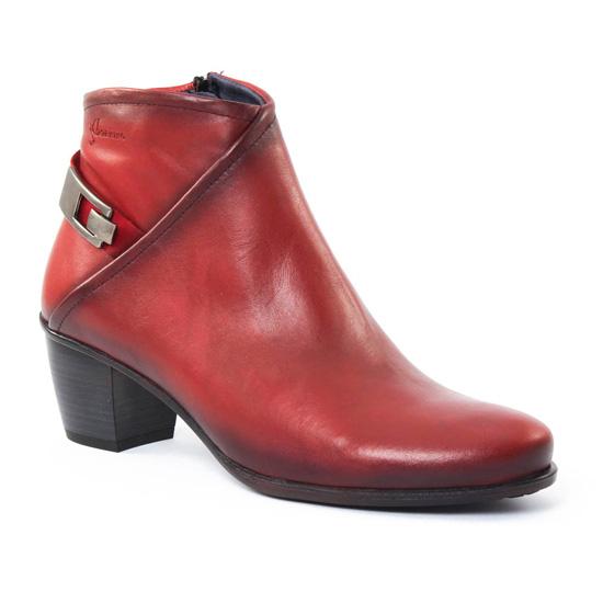 Bottines Et Boots Dorking 6408 Brisda Rouge, vue principale de la chaussure femme