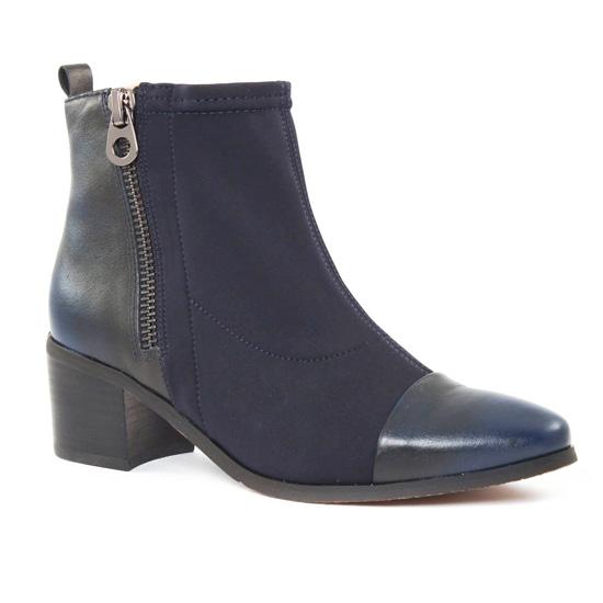 Bottines Et Boots Fugitive Lopus Navy Navy, vue principale de la chaussure femme