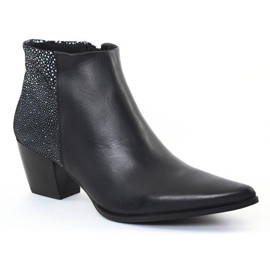 Bottines Et Boots Scarlatine al006 Noir Blanc, vue principale de la chaussure femme
