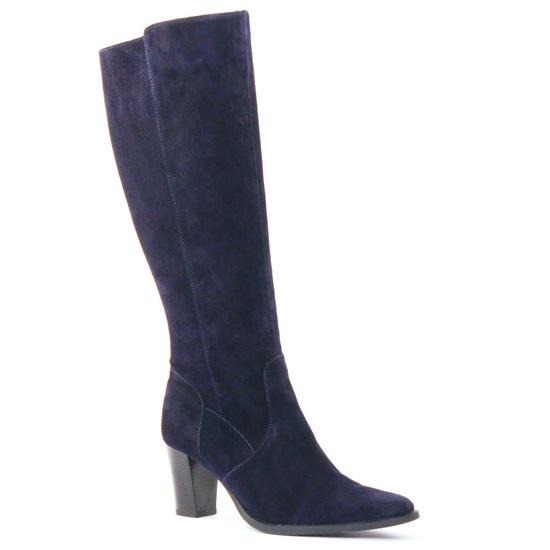 Bottes Scarlatine Finon Marine, vue principale de la chaussure femme