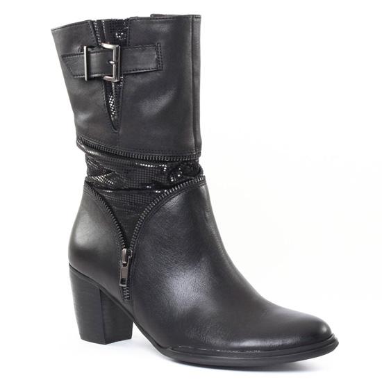 Bottes Mamzelle Ziro Noir, vue principale de la chaussure femme
