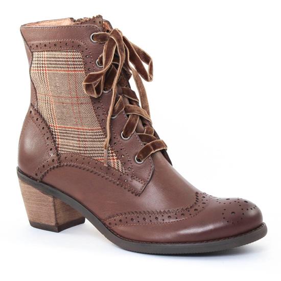 Bottines Et Boots Mamzelle Oman Taupe, vue principale de la chaussure femme