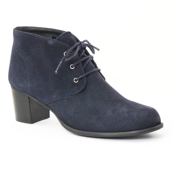 Bottines Et Boots Scarlatine 2663b Bleu, vue principale de la chaussure femme