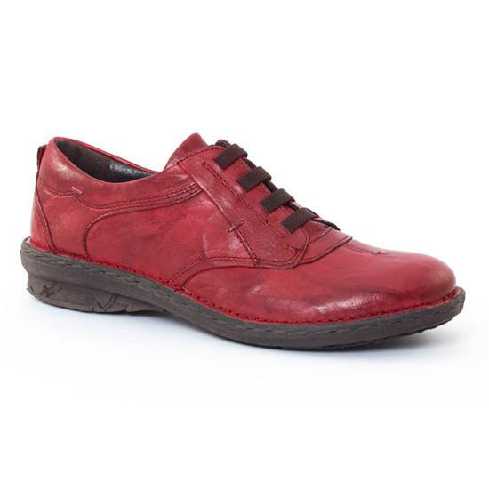Chaussures À Lacets Khrio 1005 Rouge, vue principale de la chaussure femme