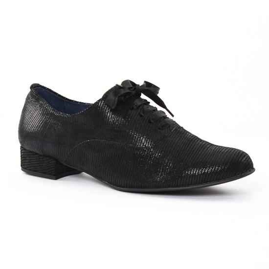Chaussures À Lacets Pintodiblu 3703 Noir, vue principale de la chaussure femme