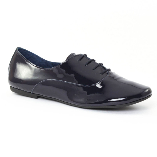 Chaussures À Lacets Scarlatine 7997c Vernis Navy, vue principale de la chaussure femme