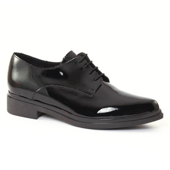Chaussures À Lacets Scarlatine 22068a Vernis noir, vue principale de la chaussure femme