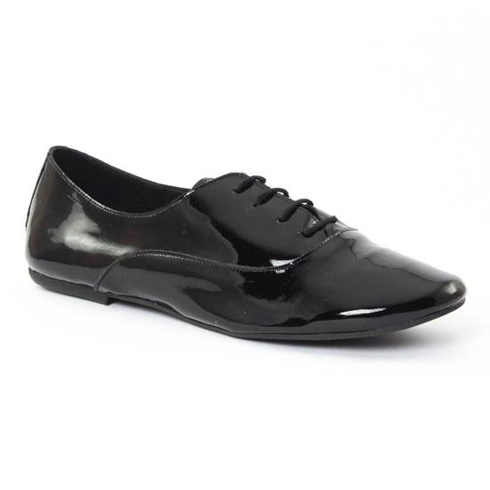 Chaussures À Lacets Scarlatine 7997c Vernis Noir, vue principale de la chaussure femme