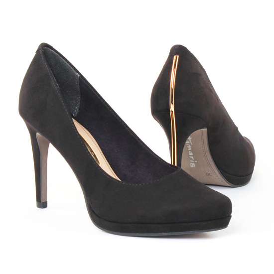 Escarpins Tamaris 22417 Black gold, vue principale de la chaussure femme