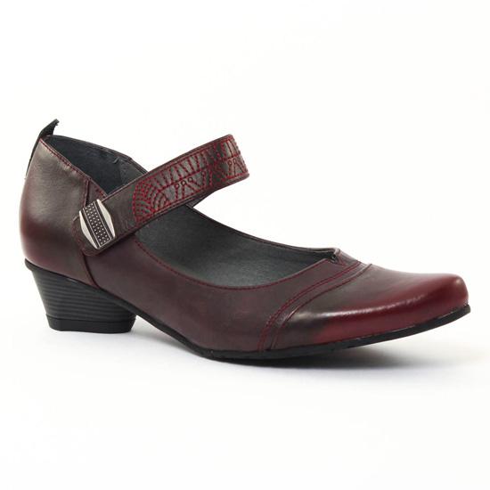 Escarpins Fugitive Tipsy Rouge Bordeaux, vue principale de la chaussure femme